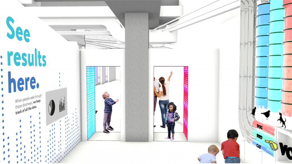 Illustration of a data science alley for young learners